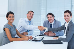 Business team greeting each other Royalty Free Stock Images