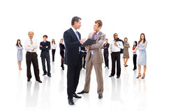 Business team or group at. A meeting royalty free stock photos