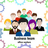 Business team. group of office workers. Royalty Free Stock Photos