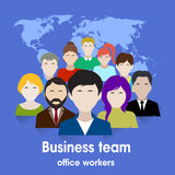 Business team. group of office workers. Royalty Free Stock Image