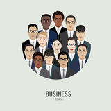 Business team. group of office workers. Royalty Free Stock Photo