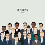 Business team. group of office workers. Royalty Free Stock Images
