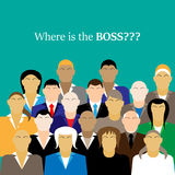 Business team. group of office workers. Where is the BOSS Stock Photo