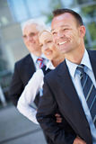 Business team group in a row Royalty Free Stock Photo