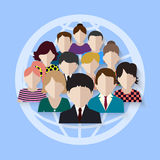 Business team. group on social networks. Stock Photo