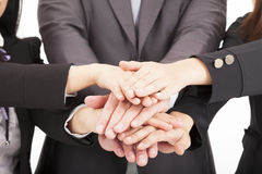 Business team with hand together. For teamwork concept Royalty Free Stock Image