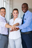 Business team hands together Royalty Free Stock Images
