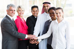 Business team hands together Stock Image