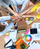 Business team with hands together - teamwork concepts Stock Photos