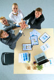 Business team with hands together - teamwork Stock Photo