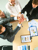 Business team with hands together - teamwork Stock Image