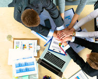 Business team with hands together - teamwork Royalty Free Stock Photography