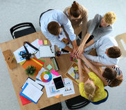 Business team with hands together - teamwork Stock Photos