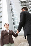 Business Team Handshake Stock Images