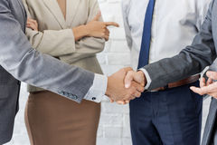 Business Team Handshake Collaboration Concept. Diverse Business People Team Handshake Collaboration Stock Photography