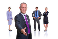 Business team handshake isolated Stock Images
