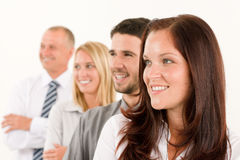 Business team happy profile looking aside Royalty Free Stock Image