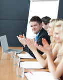 Business team happy wotking together Royalty Free Stock Photography