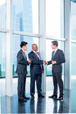 Business team having agreement and handshake Stock Photos