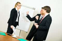 Business Team having an argument royalty free stock image