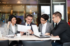 Business team  having a business meeting Stock Image