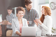 Business team having casual meeting royalty free stock images