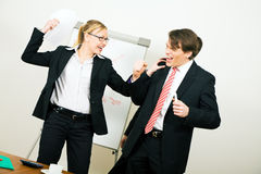 Business Team having conflict Stock Images