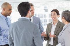 Business team having a conversation Royalty Free Stock Photos