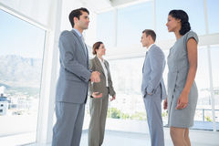 Business team having a conversation Royalty Free Stock Image