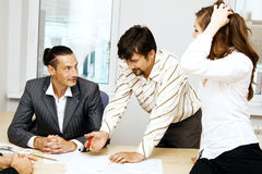 Business team having a discussion Stock Photos