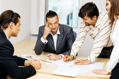 Business team having a discussion Royalty Free Stock Photo