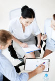 Business team having discussion in office Royalty Free Stock Photos