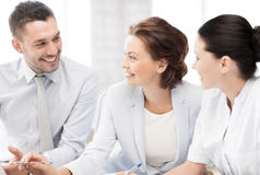 Business team having discussion in office Royalty Free Stock Photography