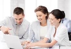 Business team having discussion in office Royalty Free Stock Images