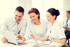 Business team having discussion in office Royalty Free Stock Photo