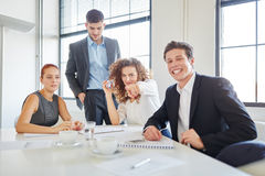 Business team having fun. In start-up Royalty Free Stock Photo