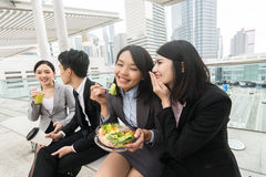 Business team having lunch royalty free stock photography