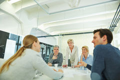 Business team having meeting in conference room royalty free stock image
