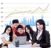 Business team having a meeting Royalty Free Stock Image