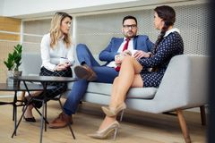 Business team having a meeting in the office Royalty Free Stock Image