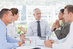 Business team having a meeting Royalty Free Stock Photos
