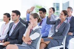 Business team having a meeting Stock Photos