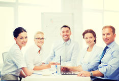 Business team having meeting in office Stock Images