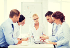 Business team having meeting in office Stock Photos