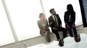 Business team having meeting in the office. Stock Image
