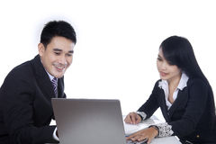 Business team is having a meeting Stock Image