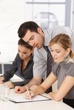 Business team having training stock photography