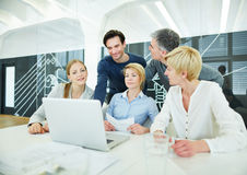Business team having training at computer Royalty Free Stock Photos
