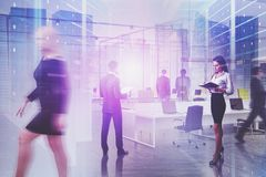 Business team in hi tech company office royalty free stock images