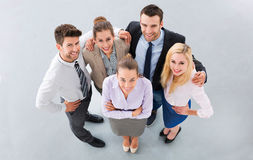 Business team. High angle view stock image